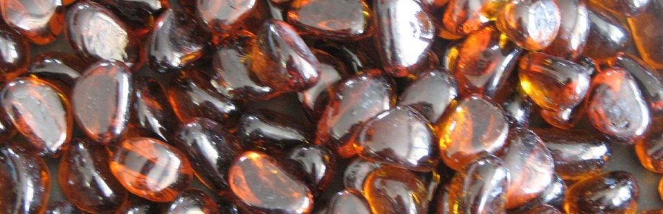 AMBER GLASS PEBBLE