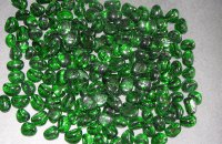 GREEN GLASS PEBBLE